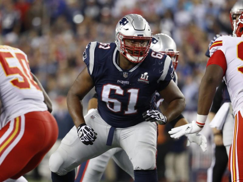 Marcus Cannon Protecting Tom Brady (courtesy the Boston Globe)