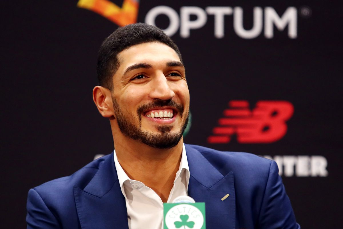 Enes Kanter at Introductory Press Conference (Courtesy CelticsBlog.com)