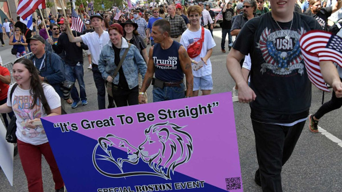 Marchers at Boston's Straight Pride Parade in Boston (photo courtesy of the Daily Wire)