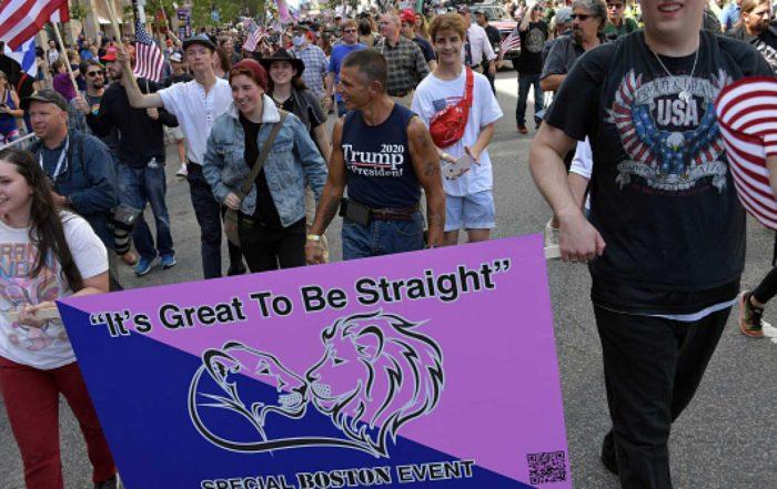 Marchers at Boston's Straight Pride Parade in Boston (photo courtesy of the Daily Wire)