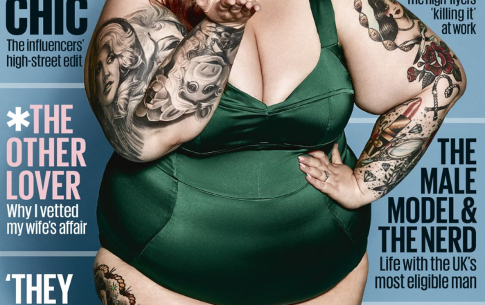 Tess Holiday on Cosmo (picture Courtesy The Cosmopolitan Magazine)