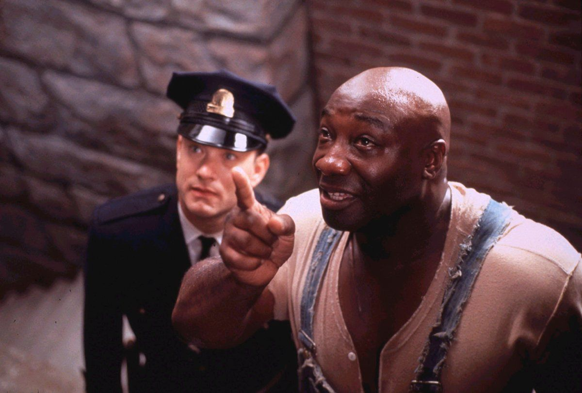 """Michael Clarke Duncan as John Coffey (picture Courtesy """"The New York Daily News."""")"""
