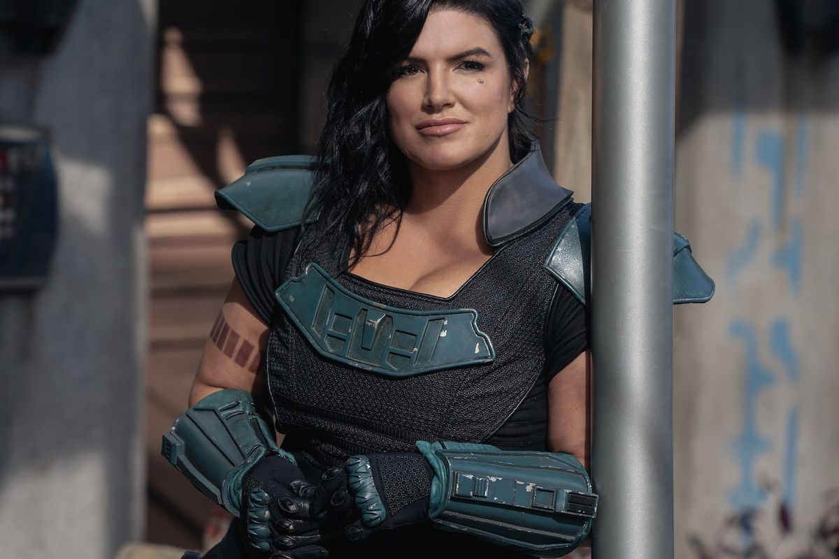 "Gina Carano (Cara Dune (Gina Carano) in ""The Mandalorian"" Season 2. Disney+ Media Relations)"