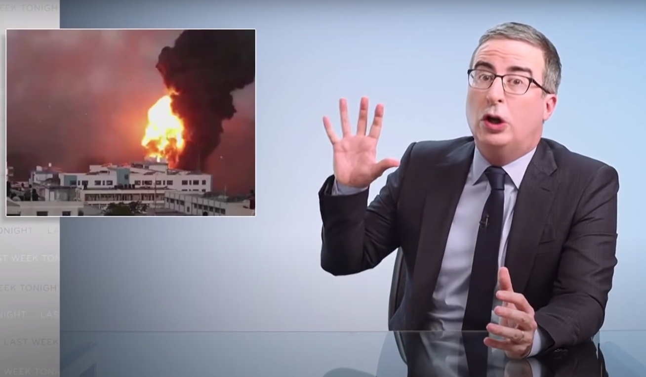 John Oliver Lying and Getting Palestinians Killed (from: https://youtu.be/PkQ4HZAepYc)