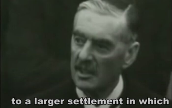 """Neville Chamberlain and Appeasement (""""Peace in Our Time"""" Speech: https://youtu.be/hQ95ffnU4Sw)"""