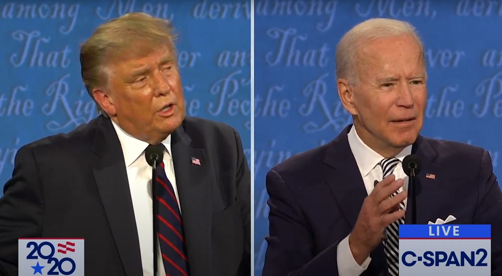The Foreign Policy Debate That Wasn't (Picture Courtesy: https://www.americanbazaaronline.com/2020/09/30/trump-biden-debate-turns-into-a-brawl-442573/)
