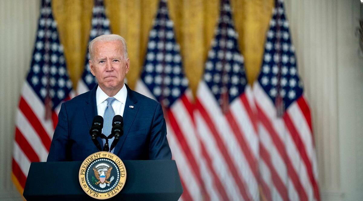 joe-biden-nyt (US President Joe Biden speaks in the East Room of the White House in Washington. (Stefani Reynolds/The New York Times)