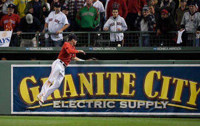 """Hunter Renfroe and Baseball's Tuck Rule/Ground Rule Double (""""Hunter Renfroe watches a ground rule double hit by the Tampa Bay Rays' Kevin Kiermaier during the 13th inning at Fenway Park."""" https://www.freep.com/story/sports/mlb/2021/10/10/red-sox-rays-ground-rule-double-kevin-kiermaier-hunter-renfroe-alds-game-4/6085581001/)"""